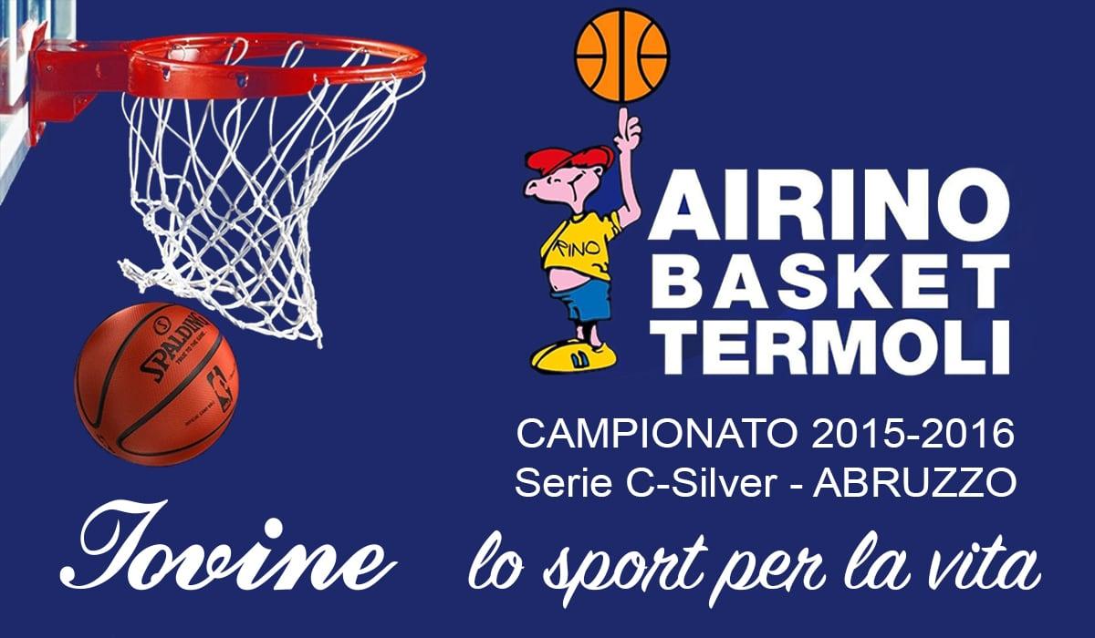 Sponsorizzazione Airino Basket Termoli Campionato 2015-2016 Serie C-Silver - ABRUZZO MOLISE